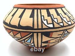 Native American Pottery Jemez Handmade Stunning Indian Signed