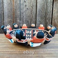 Native American Pottery-Jemez Pueblo Pottery-Large FRIENDSHIP BOWL-Tim Tosa