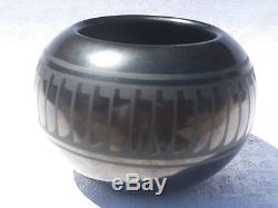 Native American Pottery San Ildefonso Blue Corn
