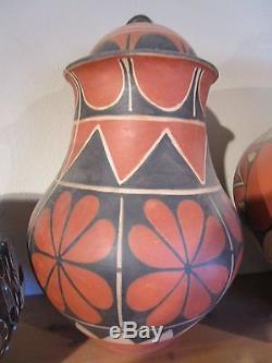 Native American Pottery Santo Domingo Pueblo NM Arthur & Hilda Coriz Vintage
