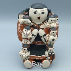 Native American Pottery Storyteller Figure Cochiti Signed Vangie Suina 1984 5.5