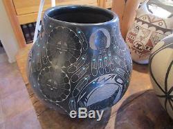 Native American Pottery Vintage Red Star Santa Clara New Mexico