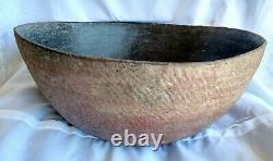 Native American, Prehistoric, Anasazi Corrugated Redware Bowl, CA 1000-1600 AD