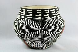 Native American Pueblo Pottery Fine Line Design Vintage ACOMA POTTERY Olla