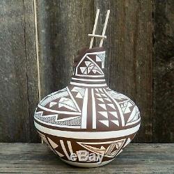 Native American Pueblo Pottery-Handmade Navajo/Acoma KIVA POT-Wesley Begay