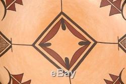 Native American SIKYATKI POLYCHROME POTTERY BOWL Hopi Indian Mark Tahbo (d-2017)