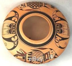 Native American SIKYATKI QUAIL BIRD XLG SEED POT Hopi Indian Mark Tahbo (d-2017)