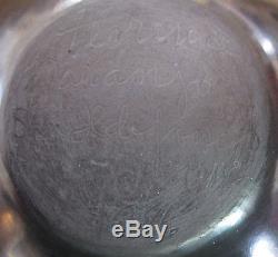 Native American San Ildefonso Black Pottery Jar by Florence Naranjo, 1986