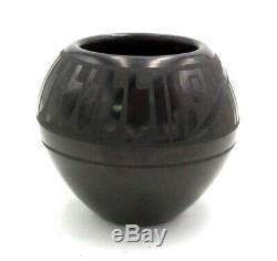 Native American San Ildefonso Blackware Pot by Than Tsideh (Erik Fender)