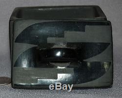Native American San Ildefonso PASCUALITA Vintage Pottery Blackware Box & Lid