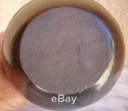 Native American Santa Clara Black Pottery Wedding Vase Signed