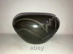 Native American Santa Clara Pottery Bowl Vickey Martinez
