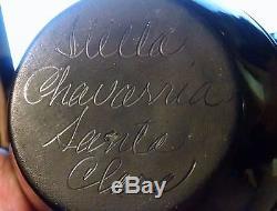 Native American Santa Clara Pueblo Blackware Pottery by Stella Chavarria