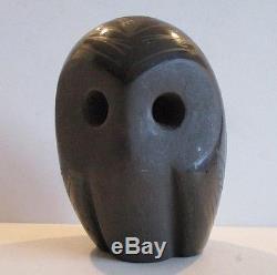 Native American Santa Clara Pueblo Pottery Owl Merton Sisneros
