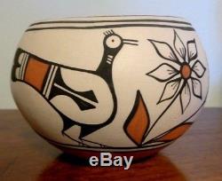 Native American Santo Domingo Bird Bowl by Robert Tenorio Pottery Southwest