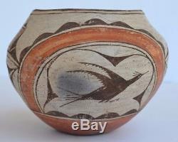 Native American Seferina P Bell Zia Pueblo Pictorial Polychrome Pottery Olla