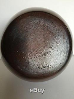 Native American Signed Susie W. Crank Navajo Pottery Authentic Vintage 8x 61/2