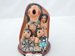 Native American Story Teller Pottery By D. Lucero Jemez Pueblo