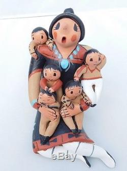 Native American Story Teller Pottery By Diane Lucero Jemez Pueblo