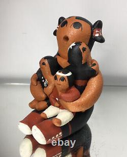 Native American Storyteller Olivia Quintana Cochiti Pueblo Pottery Figurine