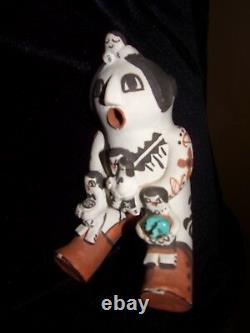 Native American Storyteller Pottery Acoma/ Zia Pueblo N. M