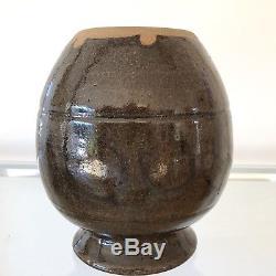 Native American Three Tribes Studio Art Pottery Vase Canadian Ruth Swanson