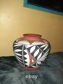 Native American Vintage Acoma Pueblo Pottery Hand Painted
