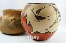 Native American Vintage Zia Olla Pueblo Pottery By Helen Gachupin