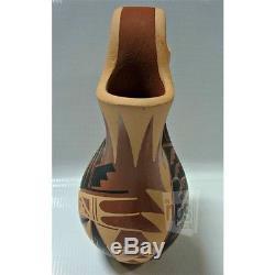 Native American Wedding Vase by Geraldine Sandia Indian Polished Stone Signed
