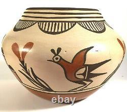 Native American Zia Pueblo Pottery Jar Signed Maxine Medina 6 1/2w Traditional