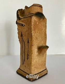Native American Zuni NM Pottery Candlestick Chieftain Headdress 1890 to 1920s