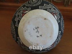 Native American pottery SIGNED- LELAND VALLO 94 Acoma N. M