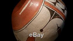 Native American pottery signed Seferina P. Bell Zia Bird jar price reduced