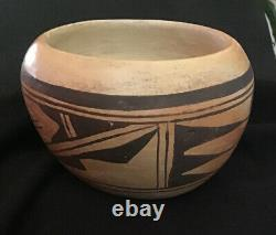 Native American vintage Hopi Poly Chrome Pottery Bowl