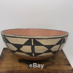 Native american pottery, Santo Domingo bowl, vintage, Dia 10