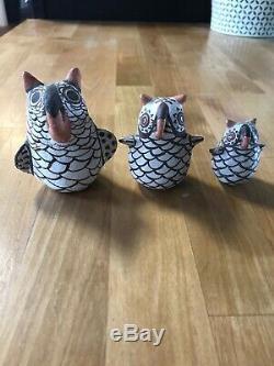 Native american pottery / Zuni Owls (3)