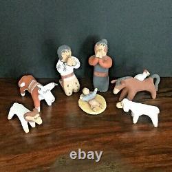 Nativity 7 set Native American The Storyteller Signed Clifford Fragua Jemez N. M