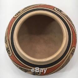 Nellie Nampeyo Hopi Native American Indian Migration Jar Pot Bowl Pottery 7x4