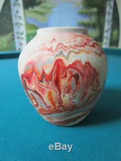 Nemadji Indian Pottery Native Clay Vase Swirled No By American Indians 77d