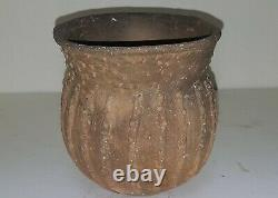 Nice Solid Cass Applique Jar Ancient Native American Caddo Indian Pottery withCOA