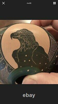 Norman Lansing Ute Eagle Seed Pot Native American-signed
