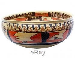 Nyla Sahmie Nampeyo, Hopi Hand Coiled Pottery, Bowl, 15x 5 3/4