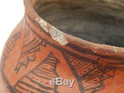 OLD Antique Native American Acoma or Zuni Indian Pueblo Pottery Storage Pot