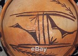 Old 1900 Hopi Pottery Bowl