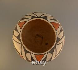 Old Traditional Acoma Pueblo Indian Pot Squash Blossom Polychrome 6.5 x 8.5