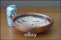 Old Vintage Hopi Shallow Bowl, very Unusual design L@@K