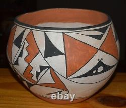Older Handcoiled Acoma Bowl/unsigned Free Shipping 1960/70's