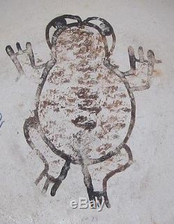 Original Frog Woman Paqua Naha Polychrome Hopi Indian Pottery Bowl Estate RARE