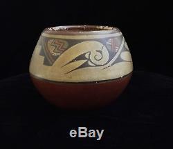 Pot native American vintage Lela and Van Gutierrez Santa Clara Pueblo RX