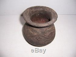 Pre-Columbian Native American Indian Blackware Pottery Bowl Pot Dish Artifact